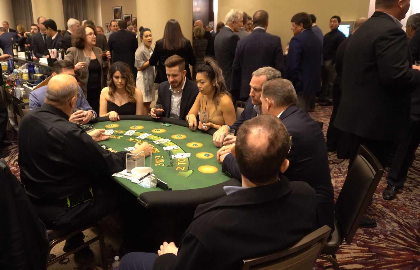 Fun at the gaming tables at the NYH Gala